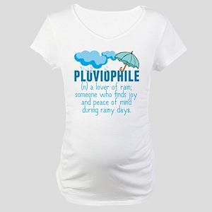 Pluviophile Maternity T-Shirt