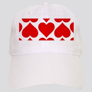 Red Hearts Pattern Cap