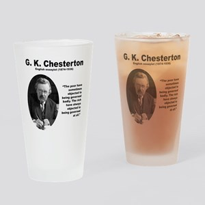 Chesterton Inequality Drinking Glass
