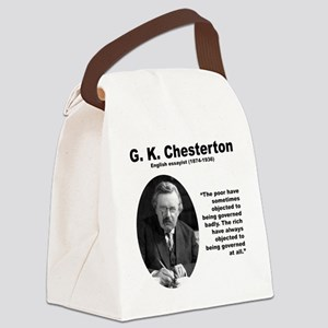 Chesterton Inequality Canvas Lunch Bag