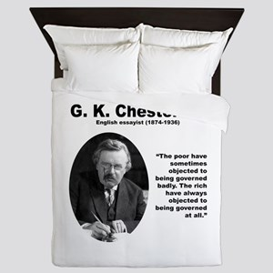 Chesterton Inequality Queen Duvet