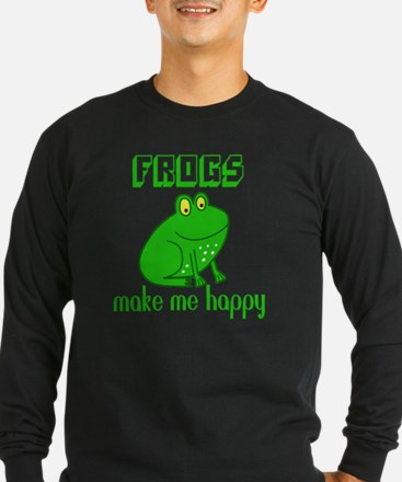 Frogs Make Me Happy Long Sleeve T-Shirt