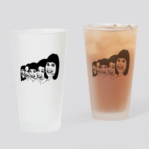Call Center Operators Drinking Glass