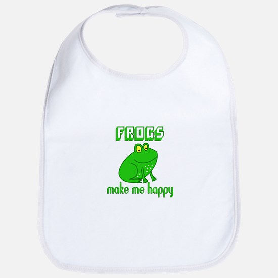 Frogs Make Me Happy Baby Bib