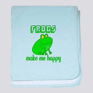 Frogs Make Me Happy baby blanket