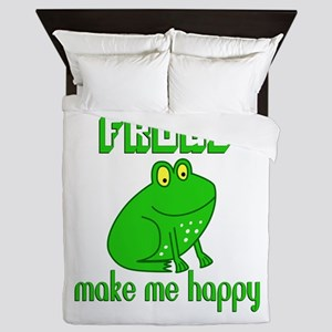 Frogs Make Me Happy Queen Duvet