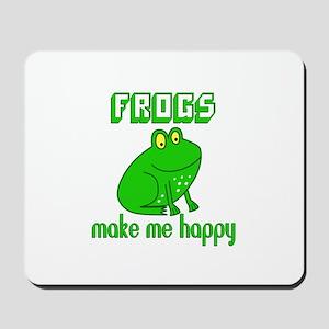 Frogs Make Me Happy Mousepad