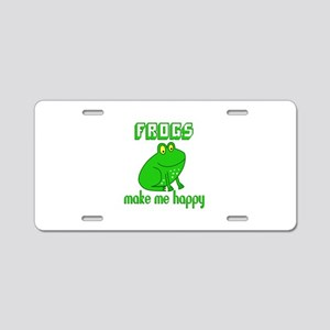 Frogs Make Me Happy Aluminum License Plate