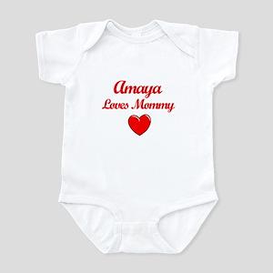 Amaya Loves Mommy Infant Bodysuit