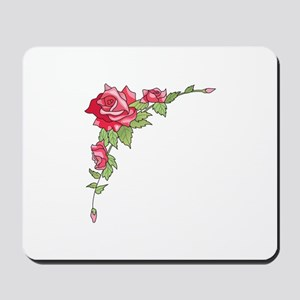 ROSES CORNER BORDER Mousepad
