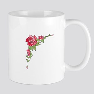 ROSES CORNER BORDER Mugs