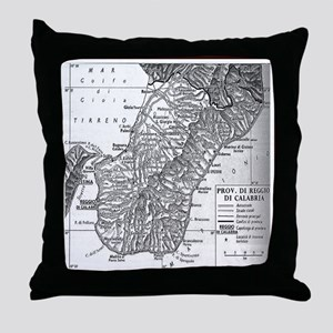 Province of Calabria Throw Pillow