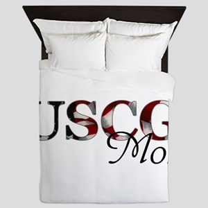 Mom USCG_flag  Queen Duvet