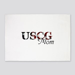 Mom USCG_flag  5'x7'Area Rug