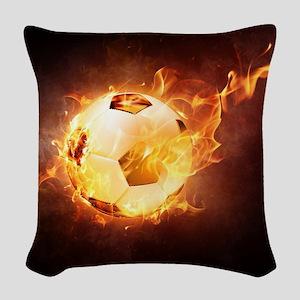 Fire Ball Woven Throw Pillow