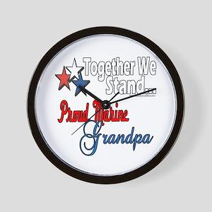 Marine Grandpa Wall Clock