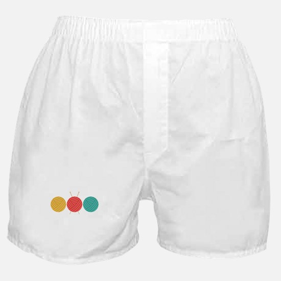 Yarn Balls Knitting Boxer Shorts