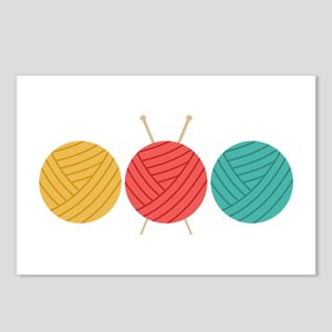 Yarn Balls Knitting Postcards (Package of 8)
