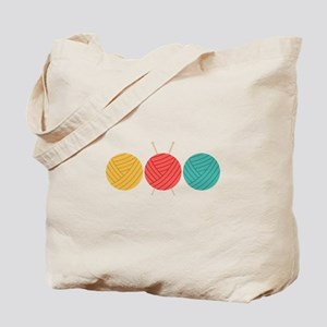 Yarn Balls Knitting Tote Bag