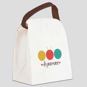 Handmade Knitting Canvas Lunch Bag