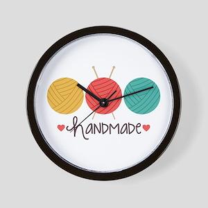 Handmade Knitting Wall Clock