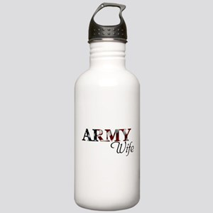 Wife Army_flag  Stainless Water Bottle 1.0L
