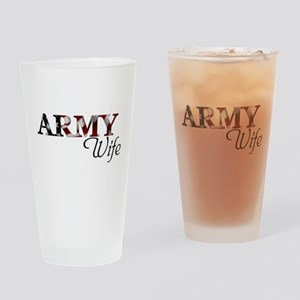 Wife Army_flag  Drinking Glass