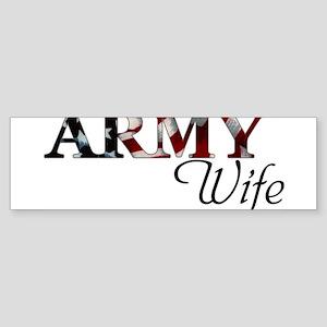 Wife Army_flag Bumper Sticker