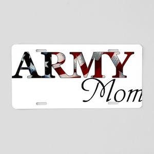 Mom Army_flag  Aluminum License Plate