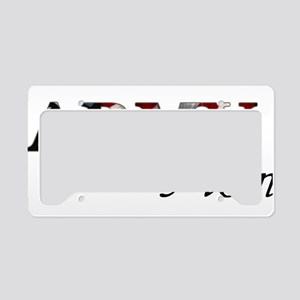 Mom Army_flag  License Plate Holder