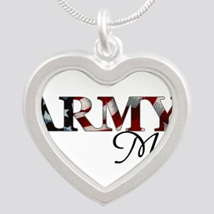 Mom Army_flag Necklaces