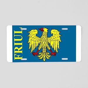 Flag of Friul Aluminum License Plate