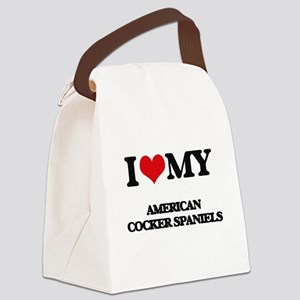 I love my American Cocker Spaniel Canvas Lunch Bag