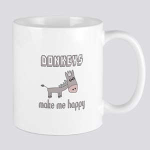 Donkeys Make Me Happy Mugs