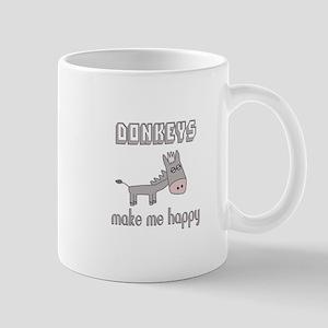 Donkeys Make Me Happy Mugs