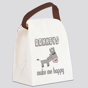 Donkeys Make Me Happy Canvas Lunch Bag