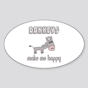 Donkeys Make Me Happy Sticker