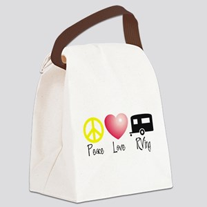 Peace, Love, RVing Canvas Lunch Bag