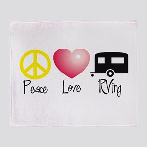 Peace, Love, RVing Throw Blanket