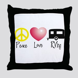 Peace, Love, RVing Throw Pillow