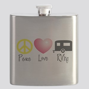 Peace, Love, RVing Flask