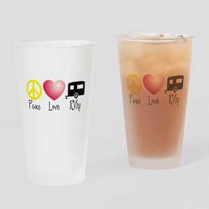 Peace, Love, RVing Drinking Glass
