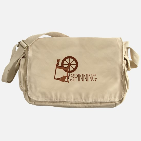 Spinning Wheel Messenger Bag
