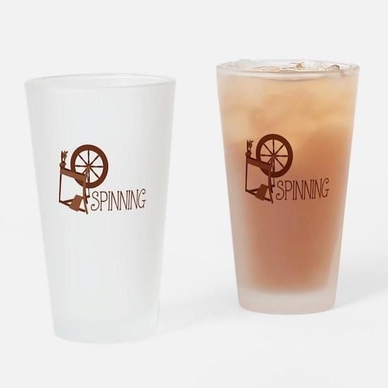 Spinning Wheel Drinking Glass
