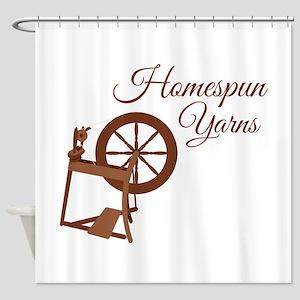 Homespun Yarns Shower Curtain