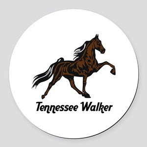 Tennessee Walker Round Car Magnet