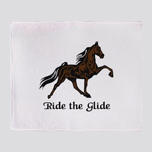 Ride The Glide Throw Blanket