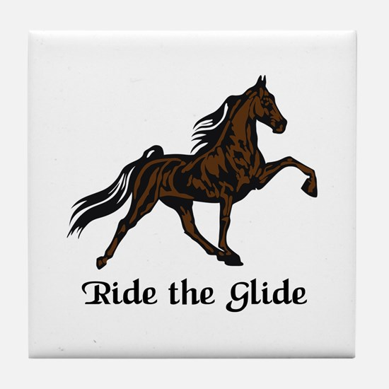 Ride The Glide Tile Coaster