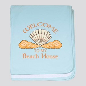 Welcome To My Beach House baby blanket