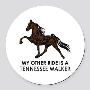 Ride Is A Tennessee Walker Round Car Magnet